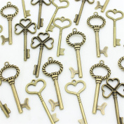 AuroTrends® Mixed Set of 30 Large Skeleton Keys- Set of 30 Keys,3 Different Styles