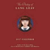 The Poetry of Lang Leav 2017 Wall Calendar