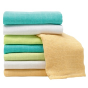 Coloured Muslin Squares - 8 Pack
