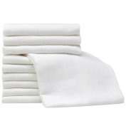 White Muslin Squares - 10 Pack