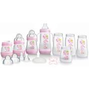MAM Self-Sterilising Anti-Colic Bottle Starter Set in Pink
