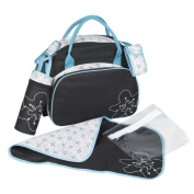 Badabulle Black and Turquoise Changing Bag