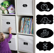 . NOW! ? MiniOwls Chalkboard Labels - 48 Blank Reusable Stickers - 8 Versatile Designs - BONUS 4 Liquid Chalk Markers - Free Lifetime Quality Guarantee - 3% of sales Donated to Autism Society
