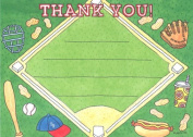 Boys Baseball Thank You Cards, Fill-In Style, 8 Pack