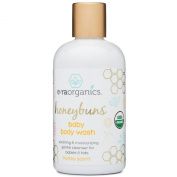 Organic Baby Wash 240ml Sulphate Free USDA Certified Organic Moisturising Baby Soap & Shampoo with Chamomile, Coconut Oil, Jojoba Oil. Cleanse, Nourish and Hydrate From Head to Toe with Each Wash