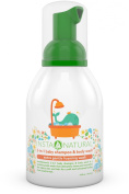 InstaNatural Baby Shampoo & Body Wash - With Aloe Vera, Vitamin E, Lavender Oil and Fruit Extracts - Soothing 2 in 1 Formula for Smooth Skin & Soft Hair - 410ml