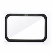 NEW! Back Seat Mirror - Rear View Baby Mirror by Baby & Mom - Wide Convex Shatterproof Glass and Fully Assembled