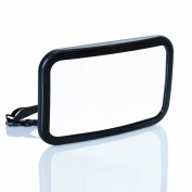 Shatterproof Baby Car Mirror for Back Seat - Rear Facing - Fully Adjustable with Long Straps to Fit Any Car Headrest - Wide Angled Convex Glass - No Need to Adjust Rearview Mirror - 360 Degree Pivot
