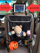 Dear Auto Back Seat Organiser | Kids Travel Bags | Fit Most Cars Car | Adjustable Straps to Seat Attachable Storage & Organisers | Eco Friendly Material | + Free Ipad Holder | Lifetime Guarantee