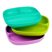 Re-Play 3pk Divided Plates