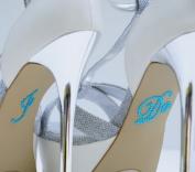 "Something Blue ""I Do"" Rhinestone Stickers for Bridal Shoes - Designed for Wedding Bride Shoes"