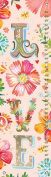 Oopsy Daisy Floral LOVE Stacked by Katie Daisy Growth Charts, 30cm by 110cm