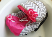 Infant Carseat Canopy Cover 3 Pc Whole Caboodle Baby Car Seat Cover Kit Cotton C030200