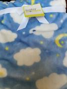 Super Soft Blue Cloud Baby Blanket 80cm x 100cm
