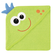 Luvable Friends Animal Face Hooded Woven Terry Baby Towel N/A Monster