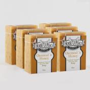 Handmade 100% Raw Goat Milk Oatmeal 'n Honey Soap (130ml/Bar)