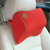 Calcifer Brand New Fashion Comfortable Memory Foam Head Massage Car Neck Pillow Headrest Seat£¨Red)
