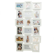 Photo Frame Multiple Photos 18 Photos White 102x53x22Cm.