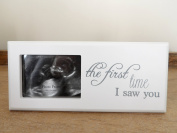 Baby Scan Wooden Photo Frame - With Bunny Gift Tag