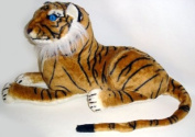 Plush Tiger Lying Brown 60 cm