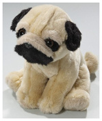 Soft Toy Bulldogge - Pug sitting 18cm. [Toy]
