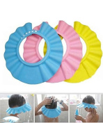 DAYAN Soft Baby Kids Children Shampoo Bath Shower Cap Hat Wash Hair Shield 3 Colour