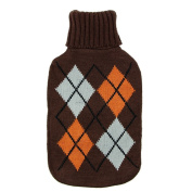 UK KNITTED LARGE HOT WATER BOTTLE WITH BEAUTIFUL COVER