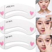 InFlagen(TM) Make up Eyebrow Stencils DIY Template Makeup Tools Beauty Brow 3 styles reusable eyebrow Drawing Guide Template Accessories