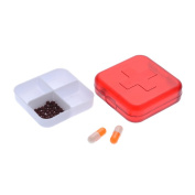 InFlagen(TM) Multi-function Storage Box Four-compartment Pill Box Medicine Tablet Jewellery Storage Box Small Object Container
