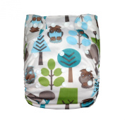 LilBit One Size Fits All Baby Cloth Nappies With 2 Inserts