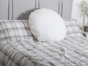 Lancashire Rose Back Support Round Circle Polycotton Hollowfibre Pillow - White Cover Only