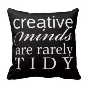 Jtartstore Creative Minds are rarely tidy - throw pillow 46cm x 46cm