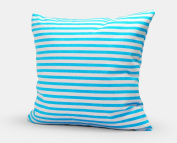 Jtartstore Blue and white stripes 02 The New Year gift to a friend 46cm x 46cm cotton linen pillowcase m201