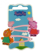 Official Licenced Peppa Pig & Candy Cat 2 x Hair Clips Sleepies Snap Clips Grips