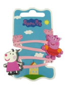 Official Licenced Peppa Pig & Suzy Sheep 2 x Hair Clips Sleepies Snap Clips Grips