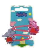 Official Licenced Peppa Pig & Emily Elephant 2 x Hair Clips Sleepies Snap Clips Grips