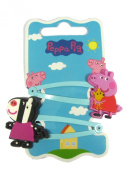 Official Licenced Peppa Pig & Zoe Zebra 2 x Hair Clips Sleepies Snap Clips Grips