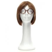 LuckyFine Styrofoam Long Neck Female Foam Head Model Glasses Hair Wig Mannequin Hat Stand Display