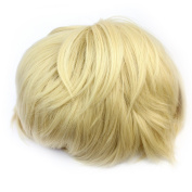 Fashion Cool Unisex Platinum Blonde Cosplay Party Short Full Wig Synthetic Fibre