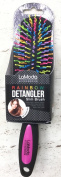 Detangler Slim Brush for Knotted Hair Rainbow Colours