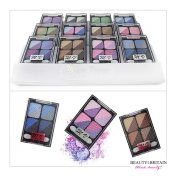 12 x Eye Shadow Palette 4x2 Colours In Box 12 Different Sets WHOLESALE UK