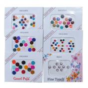Banithani Set of 6 Pcs Designer Assorted Bindi Traditional Indian Forehead Tattoos Stickers