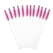 Approx.50Pcs Disposable Eyelash Brush Mascara Wands Applicator Rose