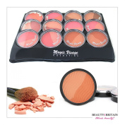 12 x Blusher Rouge Duo Set (12 Double Dfferent Shades) Wholesale Job Lot UK