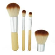 4 Pcs Cosmetics Makeup Foundation Eyeliner Face Powder Brushes Set with Storage Bag