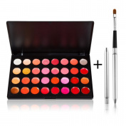 TimeSong 32 Colour Lip Gloss Stick Palette Makeup Kit Set with Retractable Lip Brush