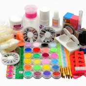 Acrylic Nail Powders And Various Useful Tips For Professional Salon Kit