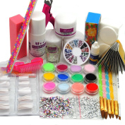 Acrylic Nail Powder And Useful Tools Salon Kit