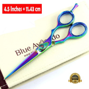 Professional Barber Titanium Razor Edge Hair Cutting Scissor / Barber Salon Scissors / Japanese Steel Scissors (4.5inch /11.43cm) with Presentation Case & FREE Delivery