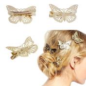 Koly Women's 1 Pair of Butterfly Hair Clips Headband Hair Accessories Headpiece